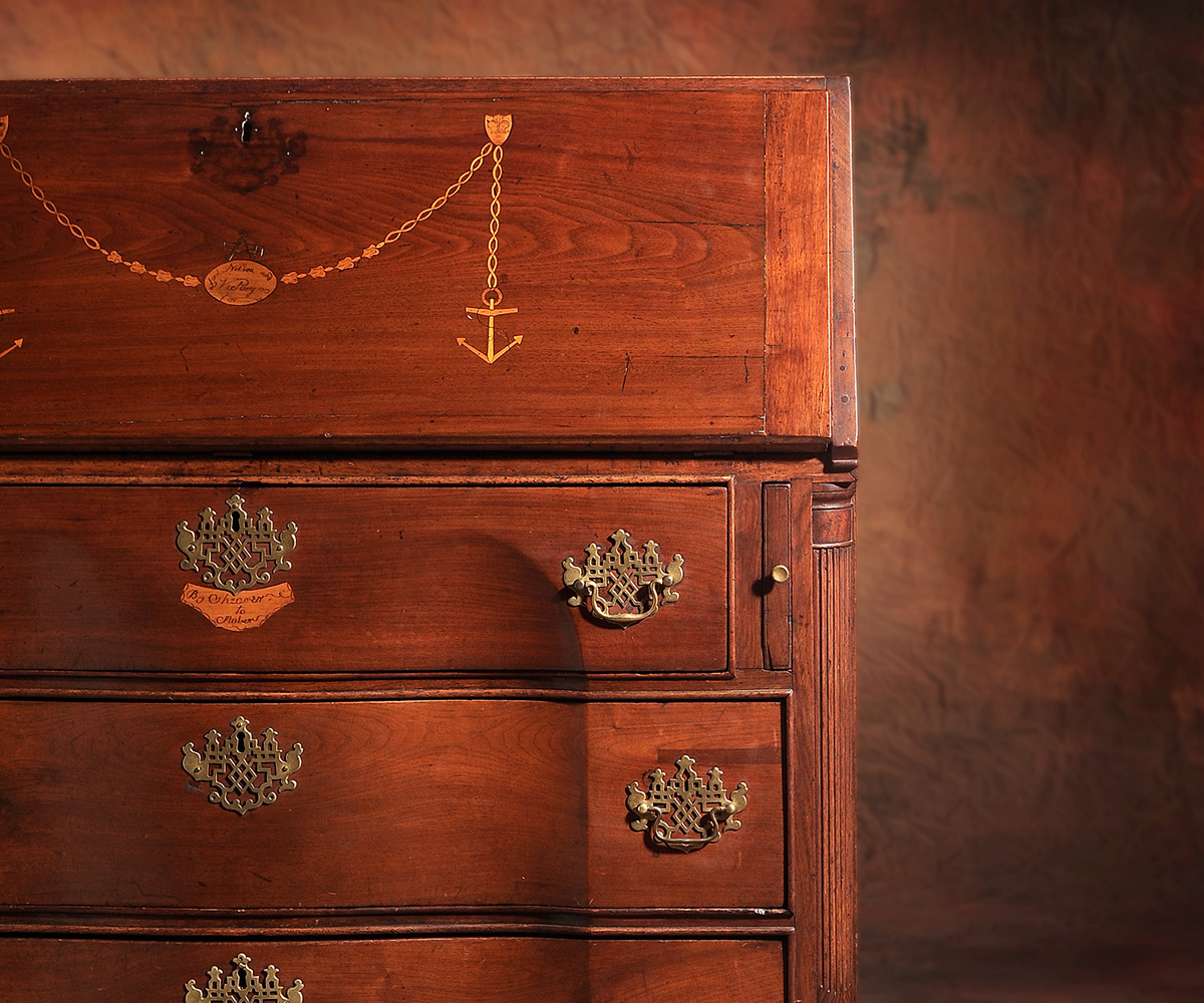 Intriguing Early Southern Desk Highlights Successful Sale at Brunk Auctions